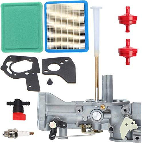 ZAMDOE 498298 Carburateur pour Briggs & Stratton 498298 692784 495951 492611 495426 490533 112202 112212 112231 112232 Moteurs 5HP, avec Joints Filtres à Carburant Pré-filtres à air