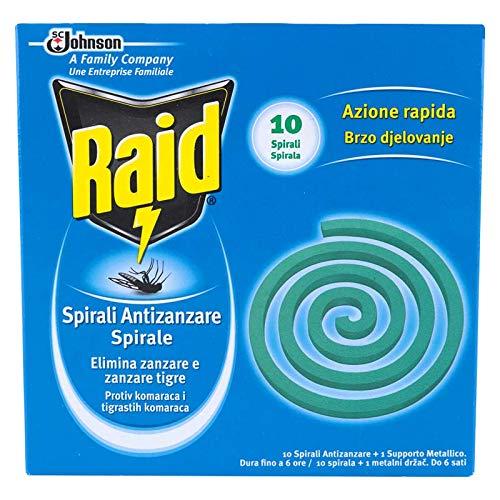Raid - Espirales antimosquitos, pack de 6 x 10 uds (Total 60 uds)
