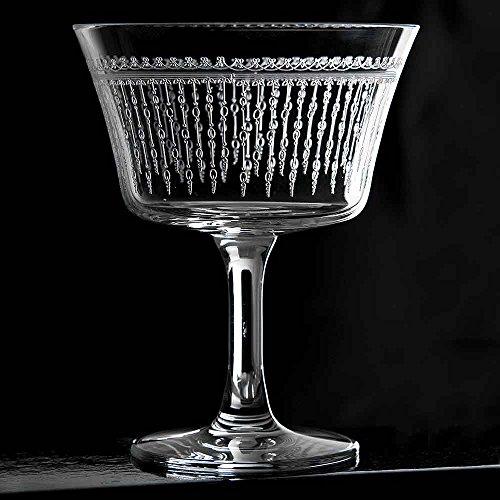 Urban Bar Fizz 1920 Cocktailglas 20cl - Einzeln - Kristallglas Coupette/Sektschale mit Geätztem Muster