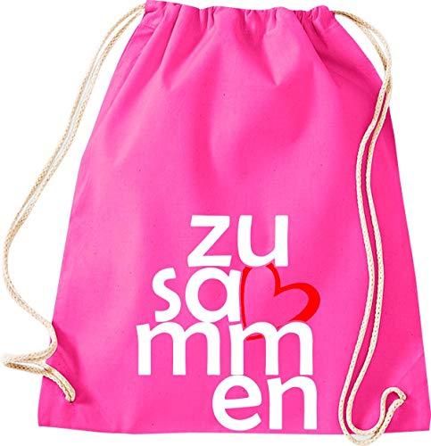 Shirtstown - Bolsa de deporte (bolsa de gimnasio, bolsa de deporte, bolsa de deporte, bolsa de deporte, bolsa de deporte, bolsa de deporte, bolsa de deporte, bolsa de deporte, bolsa de deporte, bolsa de deporte, bolsa para agradecimiento, cohesión, emergencia, sociedad), color rosa, tamaño 37 cm x 46 cm