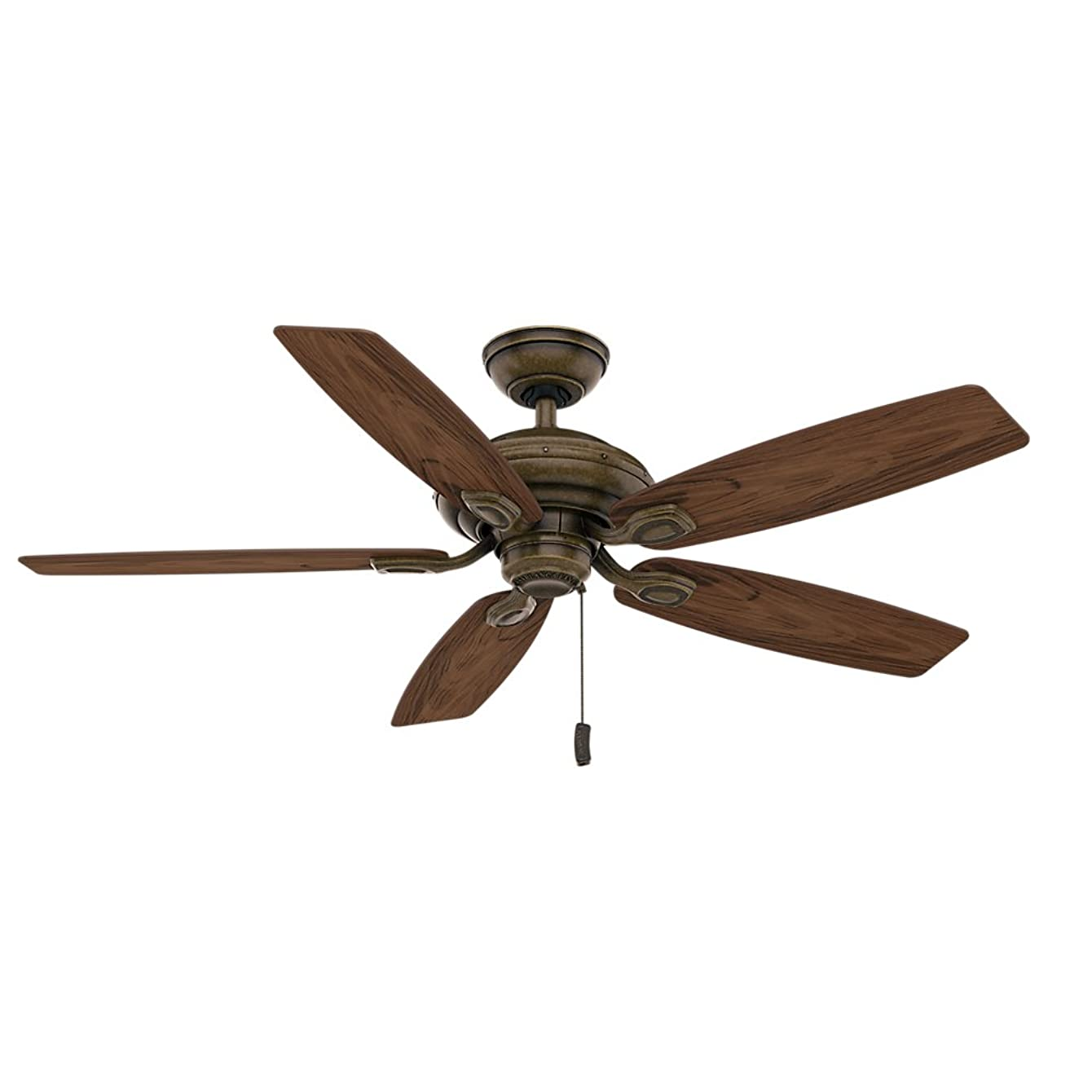 Casablanca 54036 Utopian 52-Inch 5-Blade ETL Rated Ceiling Fan, Aged Bronze with Dark Walnut all-Weather Blades