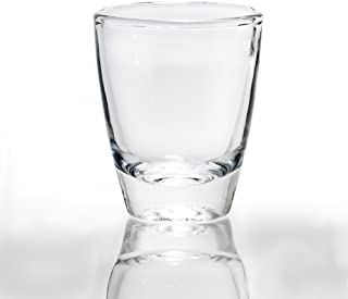 Rompak LLC 1 oz Vodka Shot Glass Set of 6 - Heavy Bottom Base, Crystal-Clear - Elegant and Durable - Perfect for Tequila, Vodka, Whiskey, Rum, or Other Liquors/Spirits (6)