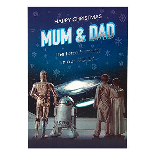 Star Wars Weihnachtskarte für Mutter & Vater