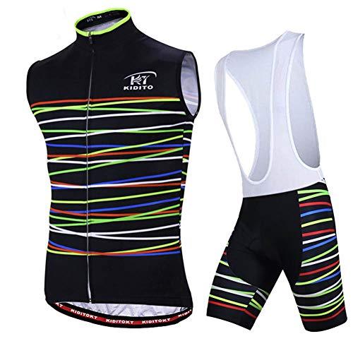 Maillots Ciclismo Sin Mangas Ropa Jersey Equipacion Conjunto Cómodo Verano Bici Mallas...
