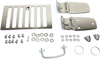 Hood Hinge for Jeep TJ 98-05 Set Incl. Hood Vent Footman Loops and Windshield Tie Down Kit Stainless Left and Right Side