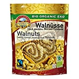 Harina de nuez ligera orgánica Fairtrade 1,5 kg Bio, de Comercio Justo, polvo de proteína de nuez, granos aromáticos de Uzbekistan, ralladas finamente, molidas, no desaceitada, sin gluten 10x150 gr