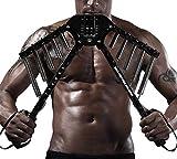 Shocly Power Twister Regolabile Potenziamento Muscolare Allenamento Pettorali E Braccia Body Building Casa O Palestra con Molla Forte 30-60 kg