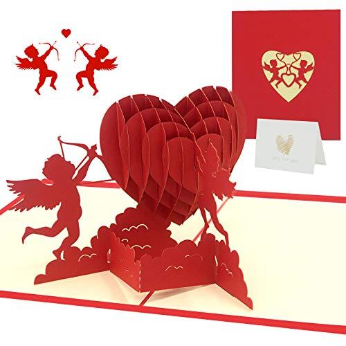 Pop up Karte Geburtstagskarte, Valentinstag Grußkarten mit Kleine Karte, Geburtstagskarte, 3D Pop-Up-Grußkarten, Glückwunschkarte für frauen( Valentinstag Hochzeitstag Grußkarten, Muttertagskarte)