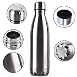 Allenshop Stainless Steel Water Bottle Double Wall Vacuum Insulated Steel Thermo Flask, Hot