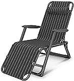 Silla tumbona Tumbona plegable reclinable sol tumbona silla oficina tumbona silla ajustable cero reclinable silla siesta cama sillones sillas al aire libre para cubierta patio playa patio barrio