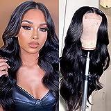PHYSKA Lace Frontal Human Hair Wigs Pre Plucked 100% Unprocessed Brazilian Virgin 9A Grade 150% Density Body Wave Wigs 4X4 Lace Front Wigs for Black Women(16 inch)