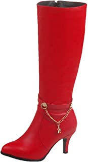 1db072ffc17e3 Amazon.com: Sexy chain Heels - Boots / Shoes: Clothing, Shoes & Jewelry