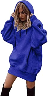 Women Fashion Tops Solid Color Clothes Hoodies Pullover Coat Hoody Sweatshirt