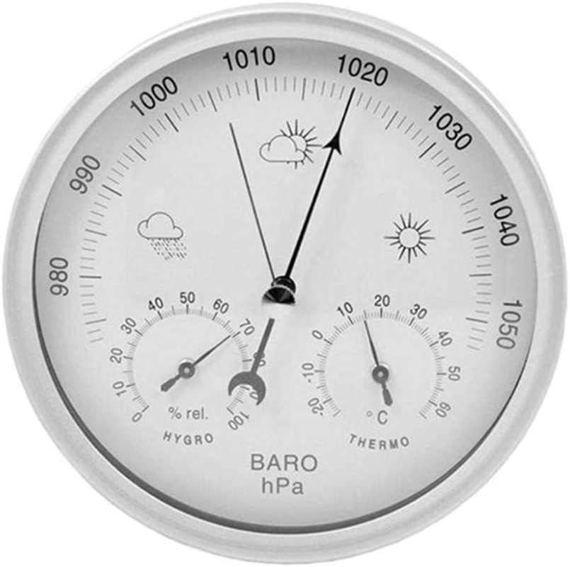 BEKwe Higrómetro Medidor de presión de Alta precisión Barómetro para Instrumentos meteorológicos y atmosféricos