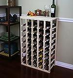 Creekside 40 Bottle Table Wine Rack (Pine) by Creekside - Exclusive 12 inch deep design conceals entire wine...