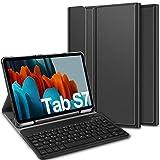 ELTD Teclado Estuche para Samsung Galaxy Tab S7 (SM-T870/875) 11 Pulgada,[Español, con la tecla (ñ)], Protectora Cover Funda con Desmontable Wireless Teclado para Samsung Galaxy Tab S7 (SM-T870/875)