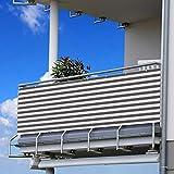 Becoyou Frangivista Balcone, 90 * 500cm Paravento da Esterno Ombreggiante Balcone Telo Frangivista Balcone per Terrazzo Esterno Portico Balcone Patio Cortile