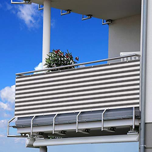 Becoyou Protectora Balcon, 90 * 500cm Balcon Ocultacion Balcon Protector Balcon para Terraza al Aire Libre, Patio, balcón, Porche