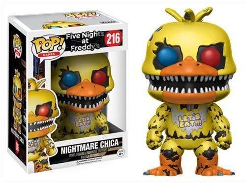Funko- Pop Vinile FNAF Nightmare Chica, 13734