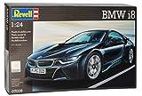 BMW I8 coupé Schwarz Ab 2013 07008 Bausatz Kit 1/24 Revell Modell Auto mit oder ohne individiuellem Wunschkennzeichen - Ohne Wunschkennzeichen