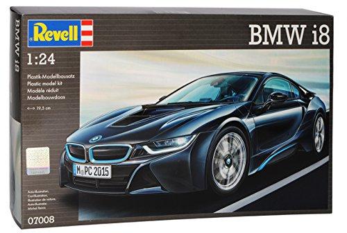 B-M-W I8 Coupe Schwarz Ab 2013 07008 Bausatz Kit 1/24 Revell Modell Auto mit individiuellem Wunschkennzeichen