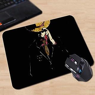 Twhoixi Anime One Piece Mouse Pad Colorful Monkey D. Luffy Crew Flag Skull Laptop PC Juego de computadora Alfombrilla de ratón, 18x22cm