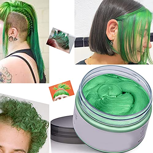 Haarfarbe Wachs Instant Haarfärbemittel Einweg-Haarschlamm Natürliche Frisur Creme Unisex Temporäre Modelliermasse Pomade Grün