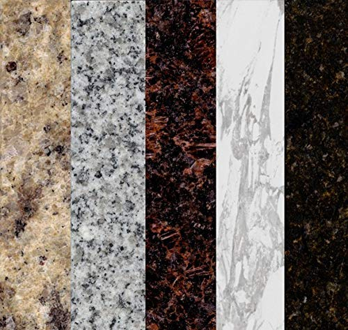 Instant Granite SAMPLES Self Adhesive Vinyl Laminate Counter Top Contact Paper Faux Peel and Stick Self Application | Includes unique coupon code for discount on your Instant Granite purchase