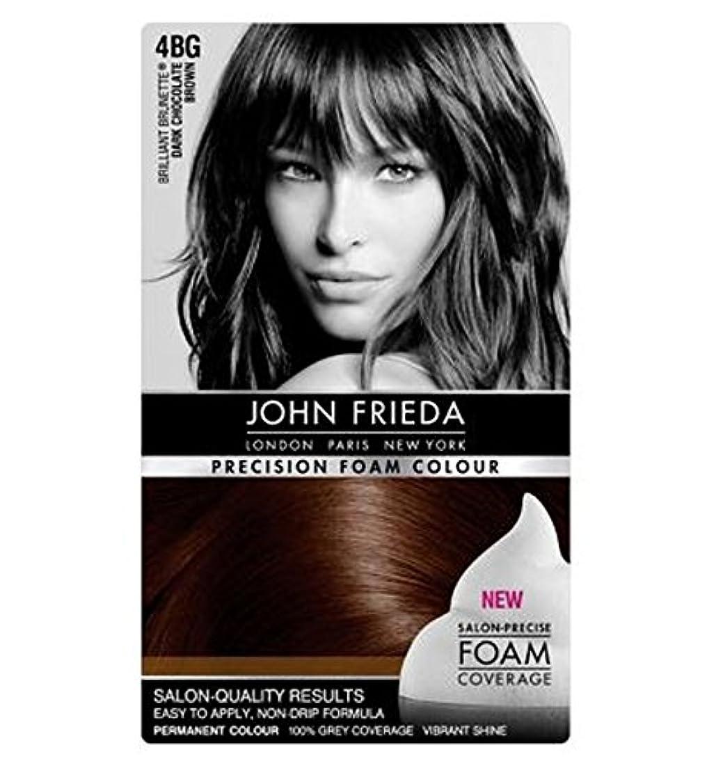 先住民咲くリネンジョン?フリーダ精密泡カラー4Bgダークチョコレートブラウン (John Frieda) (x2) - John Frieda Precision Foam Colour 4BG Dark Chocolate Brown (Pack of 2) [並行輸入品]