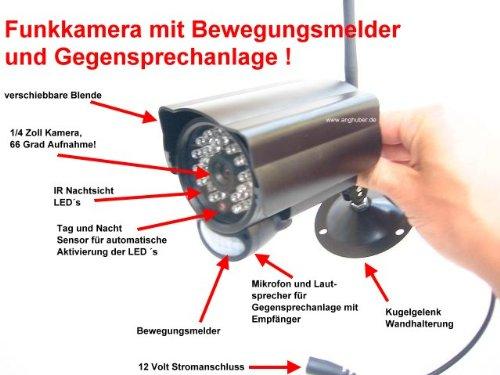 DG60 Weerbestendige 2,4 GHz draadloze camera met nachtzicht, bewegingsmelder en handsfree installatie