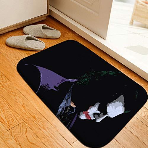 Joker Felpudo Fondo de Goma Harley Quinn Podómetro Lavable Colorido Diseño Duradero y de Calidad Antideslizante Respetuoso con el Medio Ambiente-J_60 * 90