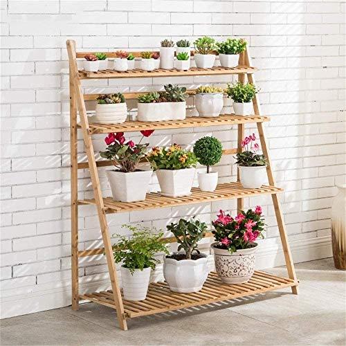 Plant display Wood Flower staan bloempot houder display stand Garden indoor en outdoor for Balkon Tuin (Maat: 100cm * 42.5cm * 120cm), Grootte: 80cm * 42.5cm * 120cm Bloemenstandaard