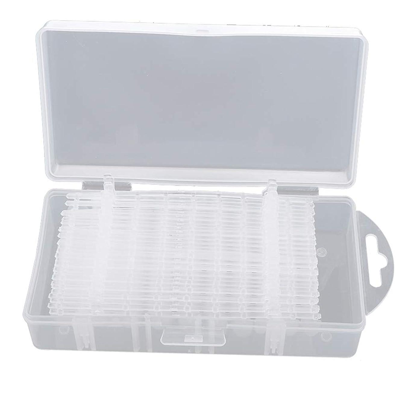 スラックどれでも好奇心B Baosity 約300枚 クリア ネイルチップ ネイル練習 DIY ネイル道具 3タイプ選べ - #1