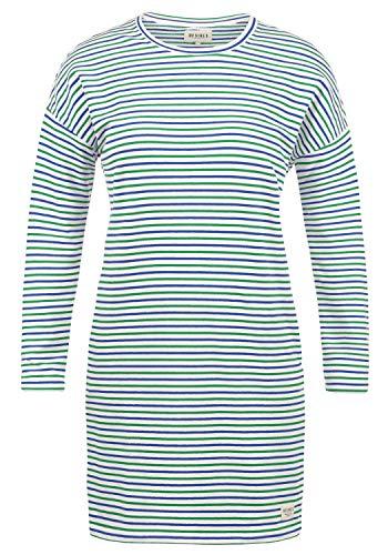 DESIRES Helena Sweatkleid Sommerkleid Kleid Mit Streifen-Optik Und Rundhals Aus Stretch-Material, Größe:S, Farbe:Jelly Bean (3299)