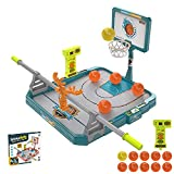 NRRN Juego de tiro de baloncesto, juego de baloncesto de mesa de escritorio de 2 jugadores, juegos clásicos de arcada de baloncesto