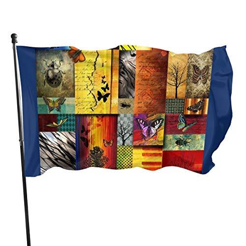 Bandera con efecto de mariposa, 3 x 5 pies