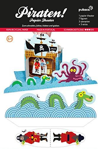 POWERHAUS24 Piraten, Bastelvorlage, Papier Spiele-Set zum Basteln & Spielen