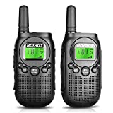 BEYYON Walkie Talkies for Kids Rechargeable Handheld Kid's Walkie Talkies 22 Channel 2 Way Radio 3 Mile Long Range with Backlit LCD Flashlight for Boys Girls Adults to Outdoor Adventure Game
