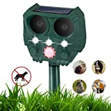 10. Ultrasonic Dog Repellent, Ultrasonic Animal Repellent with Owl Shape, Solar Repellent Ultrasonic Animal with Motion Sensor and Flashing Lights Outdoor Waterproof Repellent for Cats, Dogs, and More