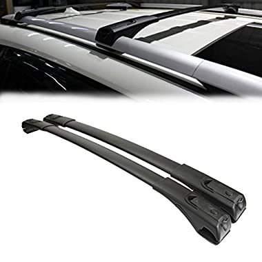 2PCS Roof Rack Cross Bars For TOYOTA RAV4 2013 2014 2015 2016 2017,100LBS/45KG Load Capacity,Black Power-coated surface, water-proof and anti-corrosion