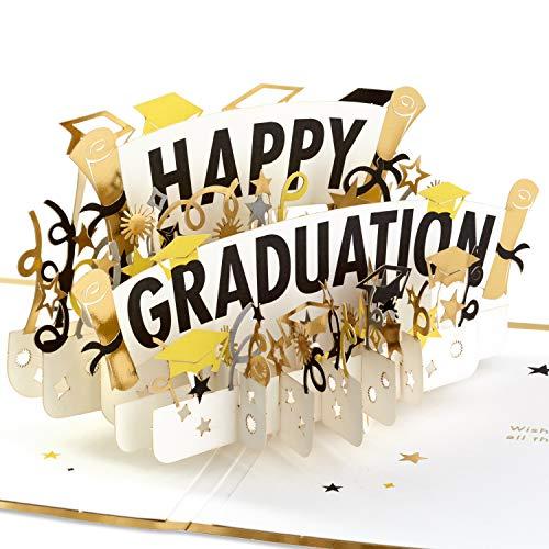 Hallmark Signature Paper Wonder Pop Up Karte zum Schulabschluss (Happy Graduation)
