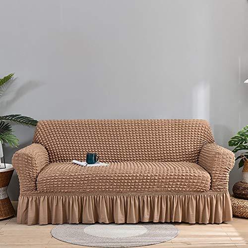 Funda de sofá impermeable premium para sofá de alta elasticidad para sofá de 1/2/3/4 asiento sofá super suave tela cubierta de sofá para perros mascotas cubierta de muebles D, 2 plazas