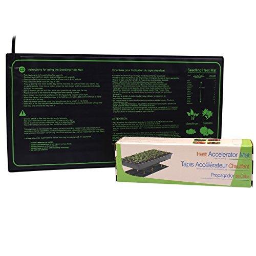 AIICIOO Manta Termica para Plantas de Semillero Mantener la Raíz Cálidas Ayuda a la Germinación de Plantas en Días Fríos IP67 Impermeable Durable Seguro Invernadero Hidropónico-17.5 Watt 53x24cm