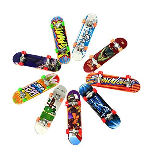 Finger Skateboard 12 Pezzi Dita BMX Skateboard Fingerboard,Mini Skateboard Finger Giocattoli Educativi per Bambini Punta delle Dita Creativi Children's Birthday Gift