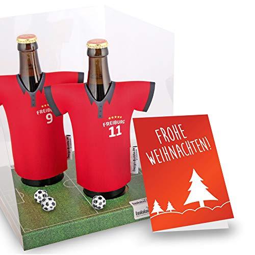 Weihnachts-Geschenk   Der Trikotkühler   Das Männergeschenk für Freiburg-Fans   Langlebige Geschenkidee Ehe-Mann Freund Vater Geburtstag   Bier-Flaschenkühler by Ligakakao