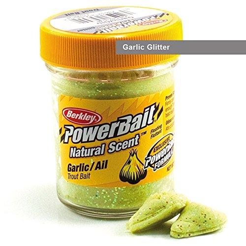 BerkleyPowerbait Natural Scent Trout Bait Glitter Garlic Glitter