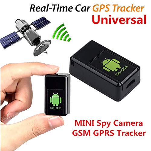 GETMORE7 Mini GPS Tracker, Global Real Time Anti-Thief GPS Tracking Device Anti Loss SMS Alarm Locator for Car, Vehicle, Motorcycle, Bycicle, Kids, Purse, Important Documents (Black)