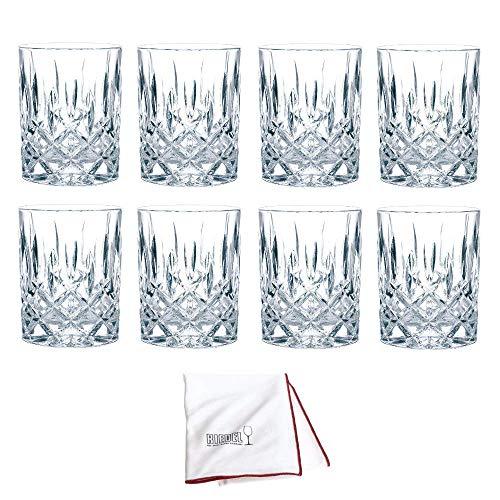 Nachtmann Whiskyglas Noblesse 8er Set inkl. Riedel Microfaser Poliertuch