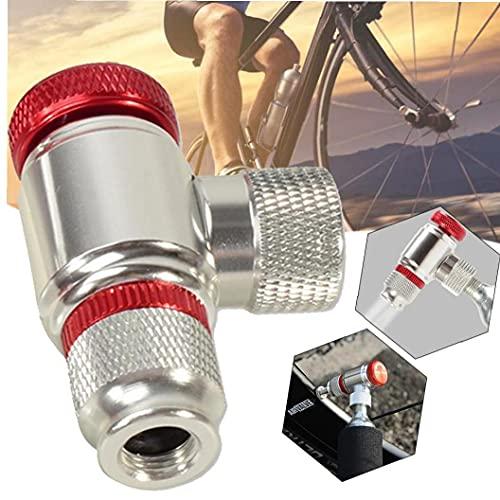 Liadance Co2 para Inflar Los Neumáticos De Bicicletas, Bicicletas De La Bomba De Neumáticos Presta Y Schrader Válvula Compatible Neumático De La Bici Bomba Cabeza De Aleación De Aluminio