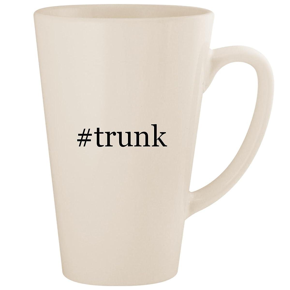 #trunk - White Hashtag 17oz Ceramic Latte Mug Cup